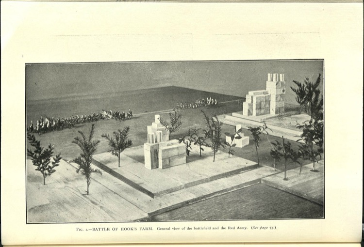 General view of the battlefield and the Red Army. (See page 73.)
