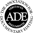 Logo of the Association for Documentary Editing